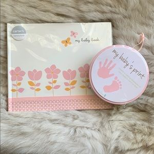 Other - Girl baby book and hand pint keepsake